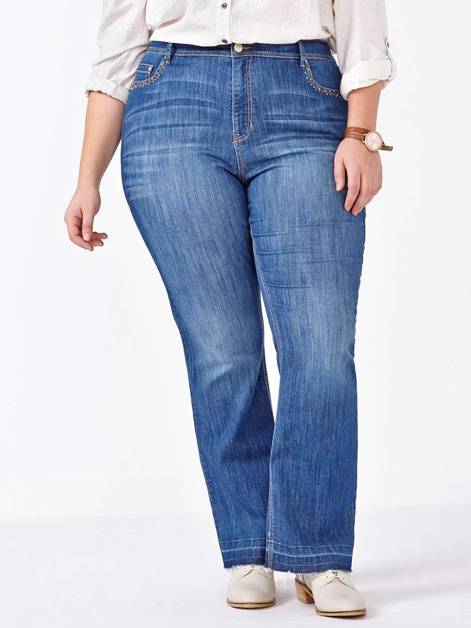 d/c JEANS Curvy Fit Bootcut Jean
