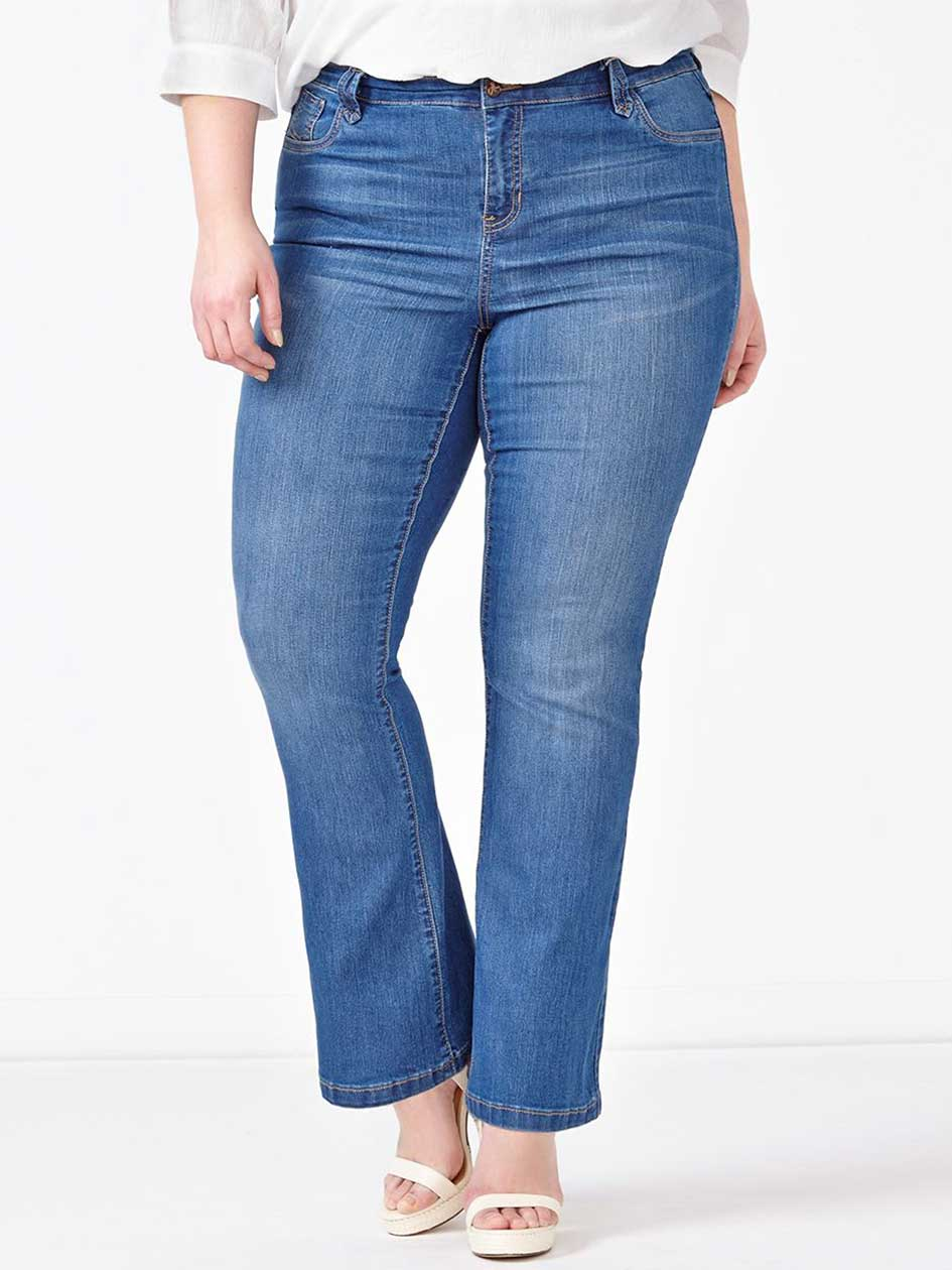 d/c JEANS Straight Fit Flared Jean