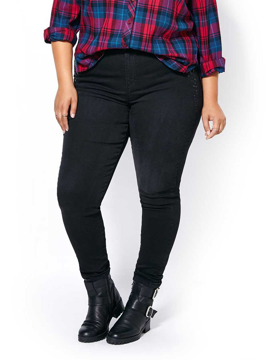 ONLINE ONLY - d/c JEANS Tall Slightly Curvy Fit Skinny Black Jean