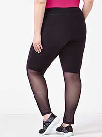 Athleisure - Plus-Size Legging with Mesh