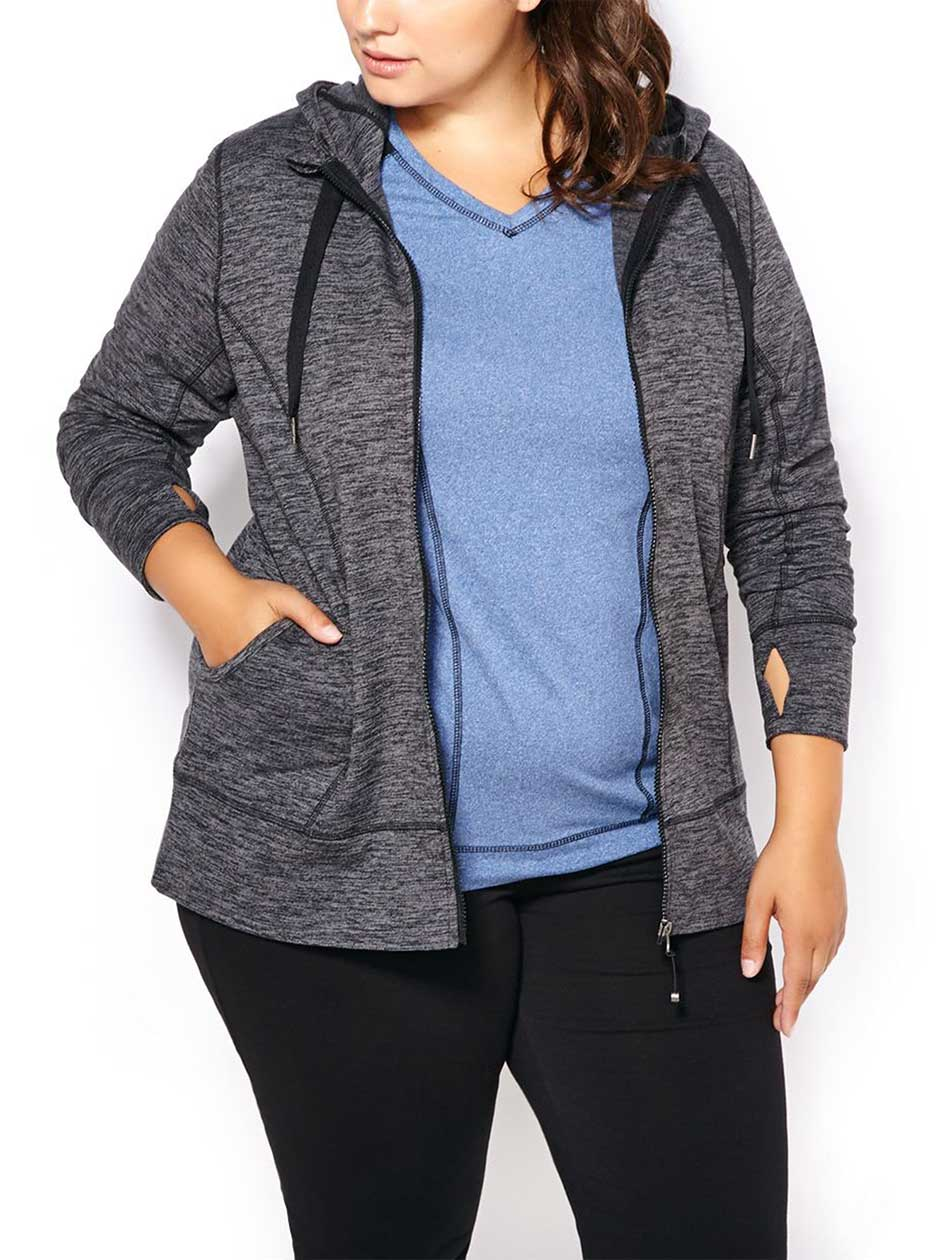 Essentials - Plus-Size Two-Toned Hoodie