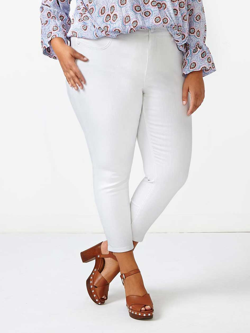 MELISSA McCARTHY White Pencil Jean