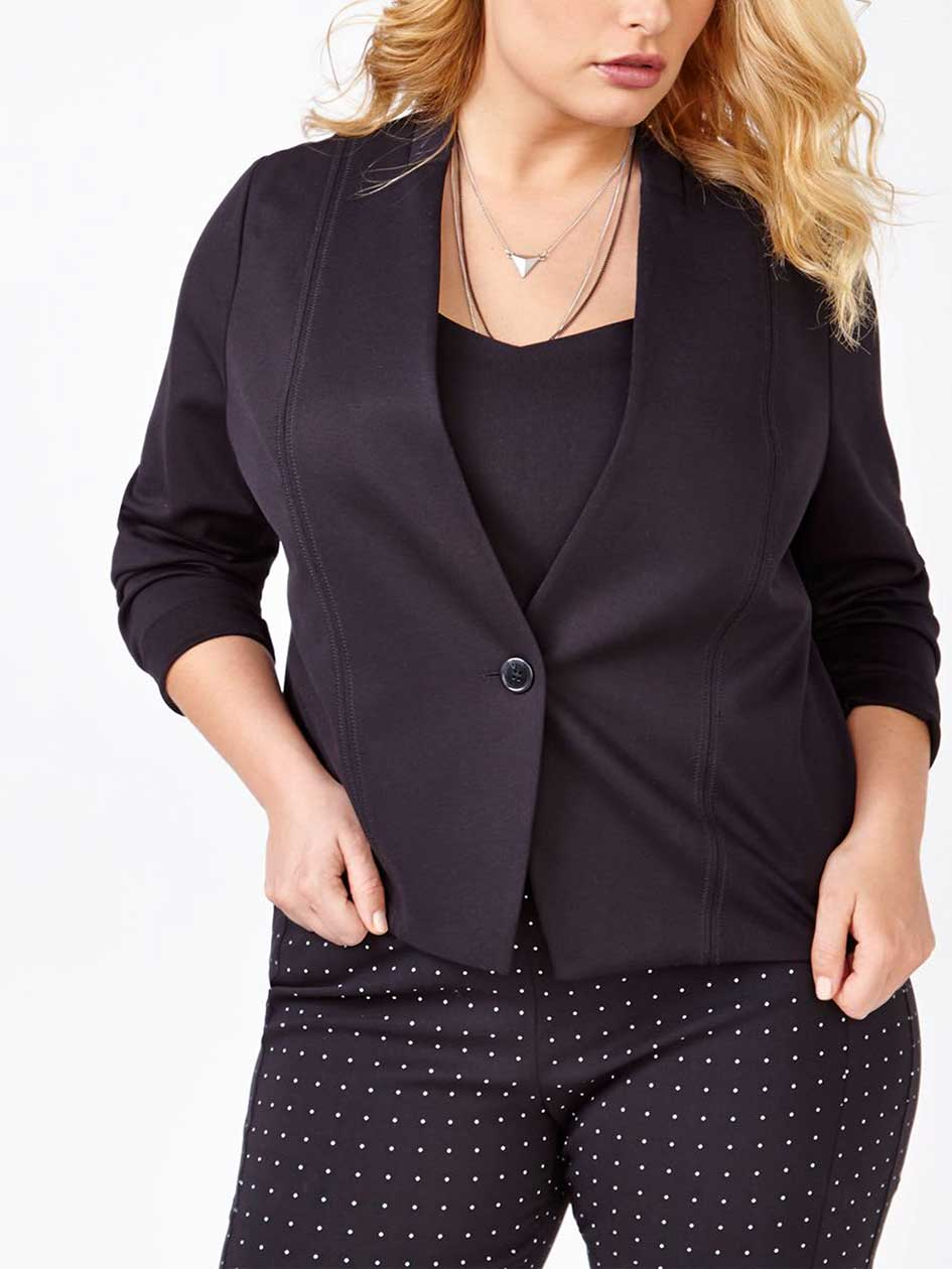 Long Sleeve Ponte de Roma Jacket