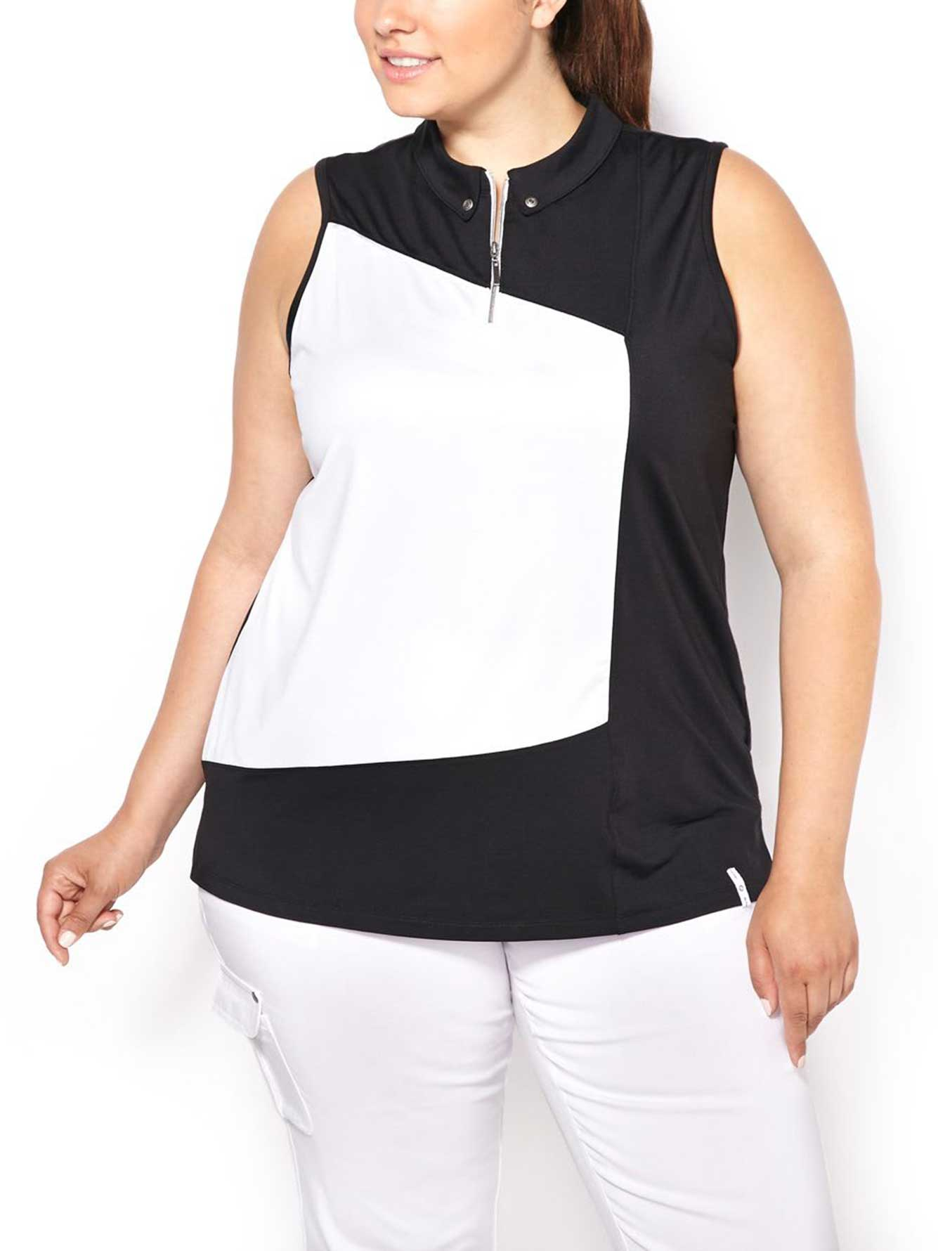 Activezone Golf Sleeveless Plus Size Polo Shirt Penningtons