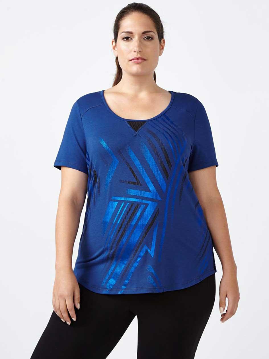 Essentials - Plus-Size Foil Print T-Shirt
