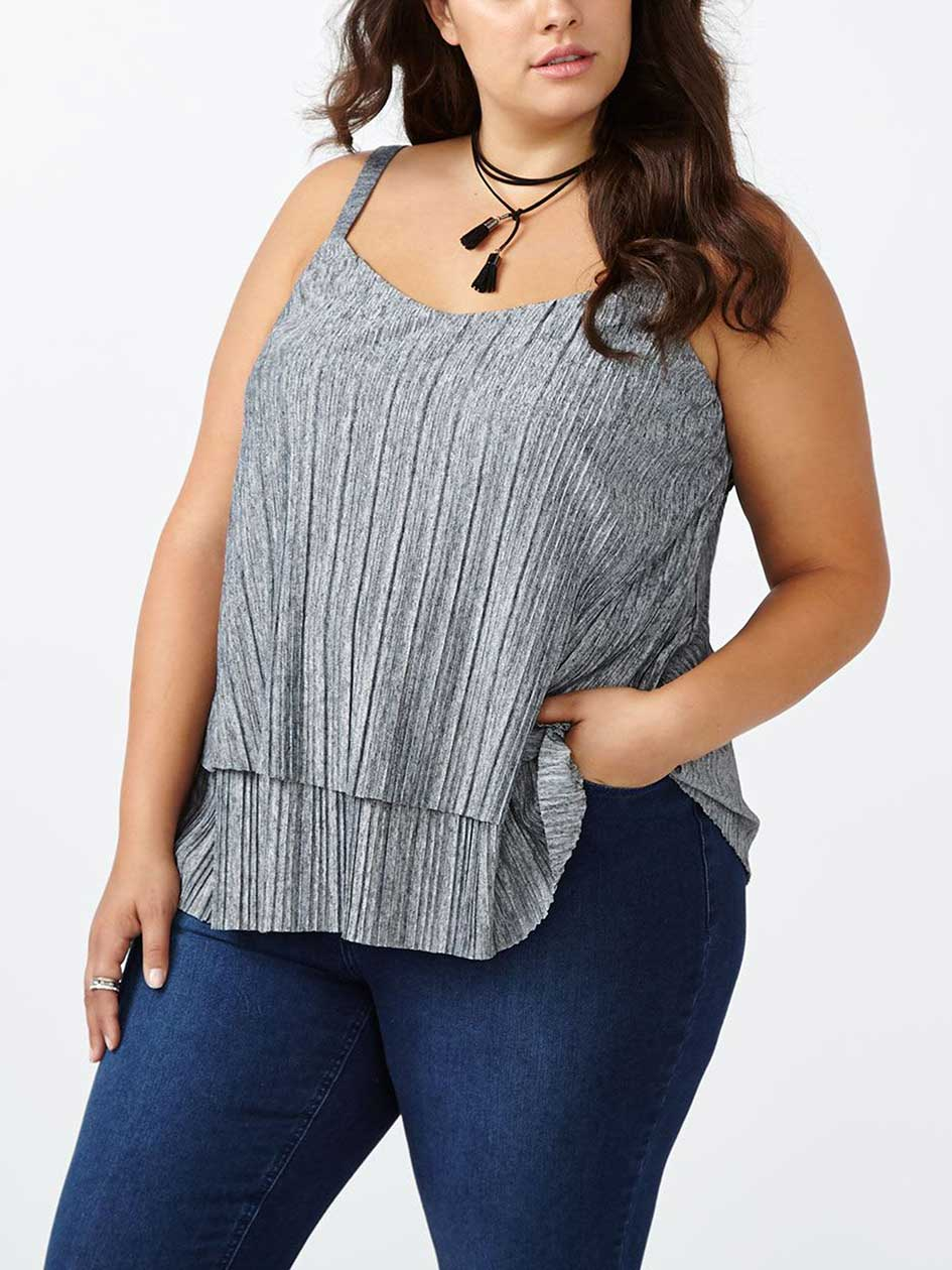 d/c JEANS Layered Pleated Cami