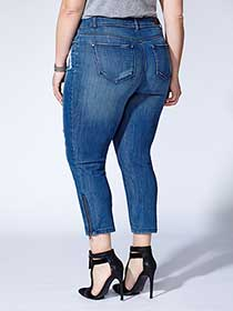 Tess Holliday - Denim Capri with Zippers