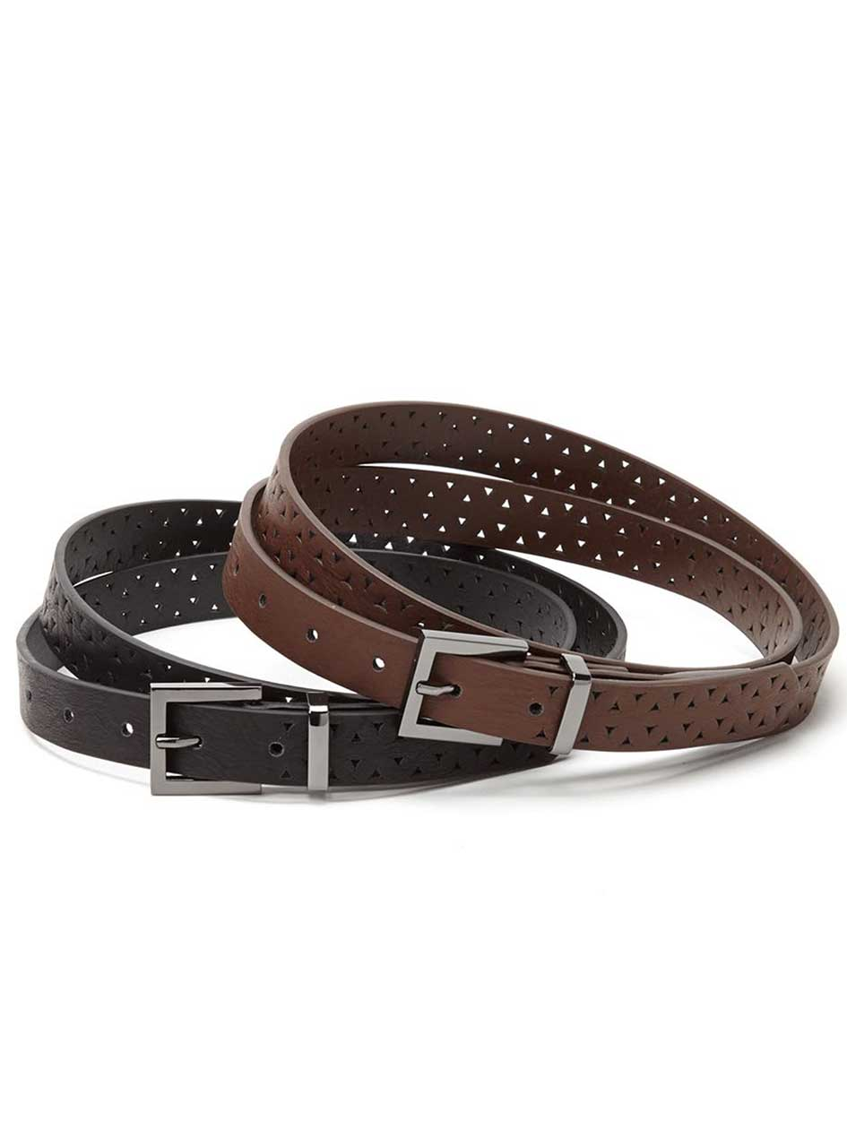 Set of 2 Perforated Belts