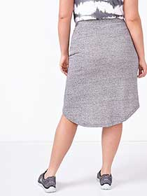 Athleisure - Plus-Size Crossover Skirt