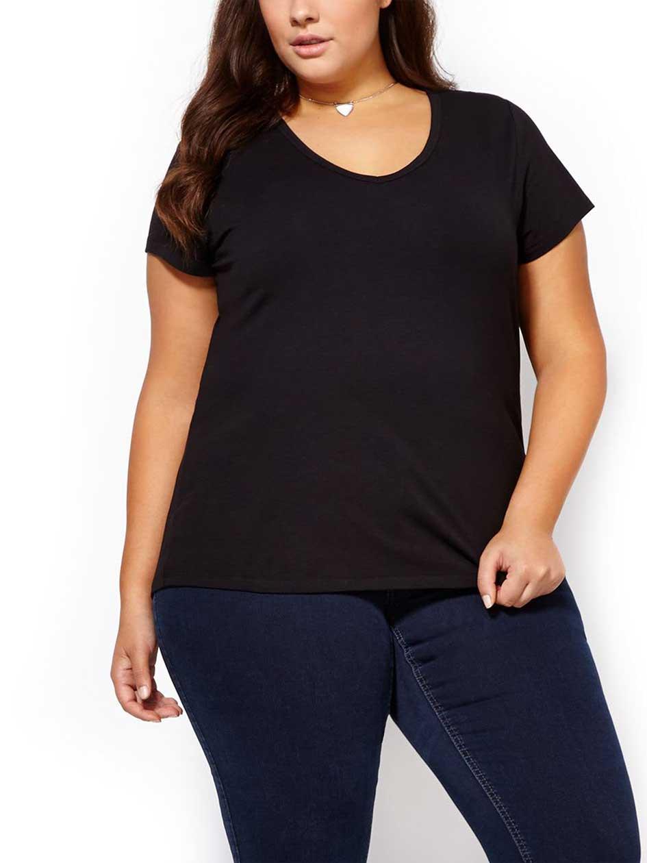 Formed Fit V-Neck T-Shirt