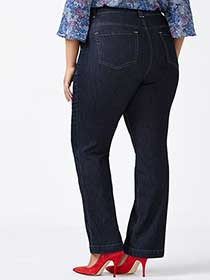 d/c JEANS Petite Slightly Curvy Fit Bootcut Jean