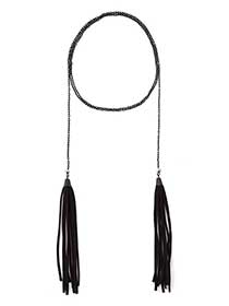 Wrap Around Choker Necklace with Tassels