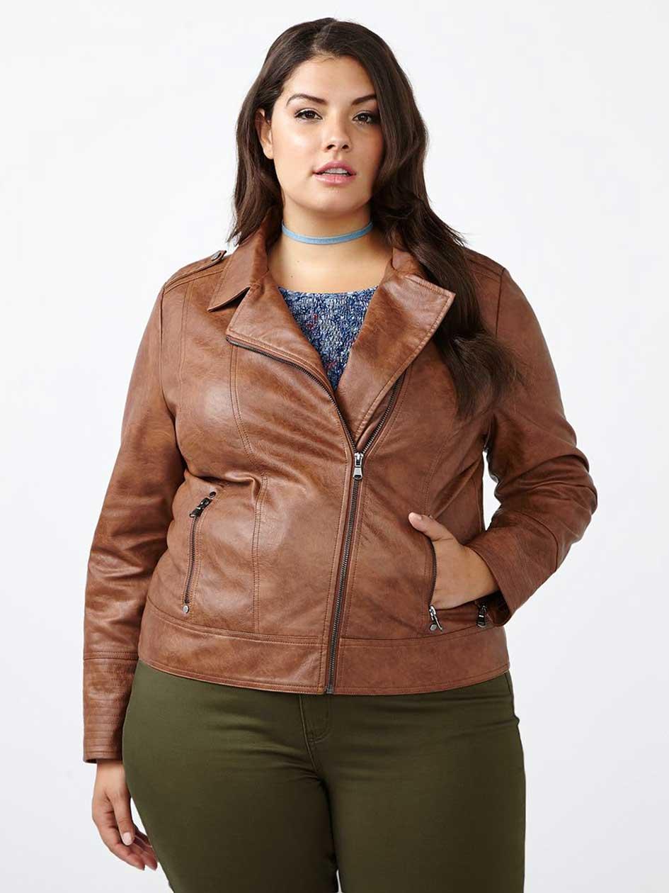 d/c JEANS Faux-Leather Moto Jacket
