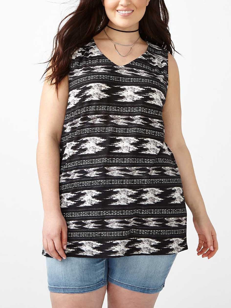 Relaxed Fit Printed Tank Top