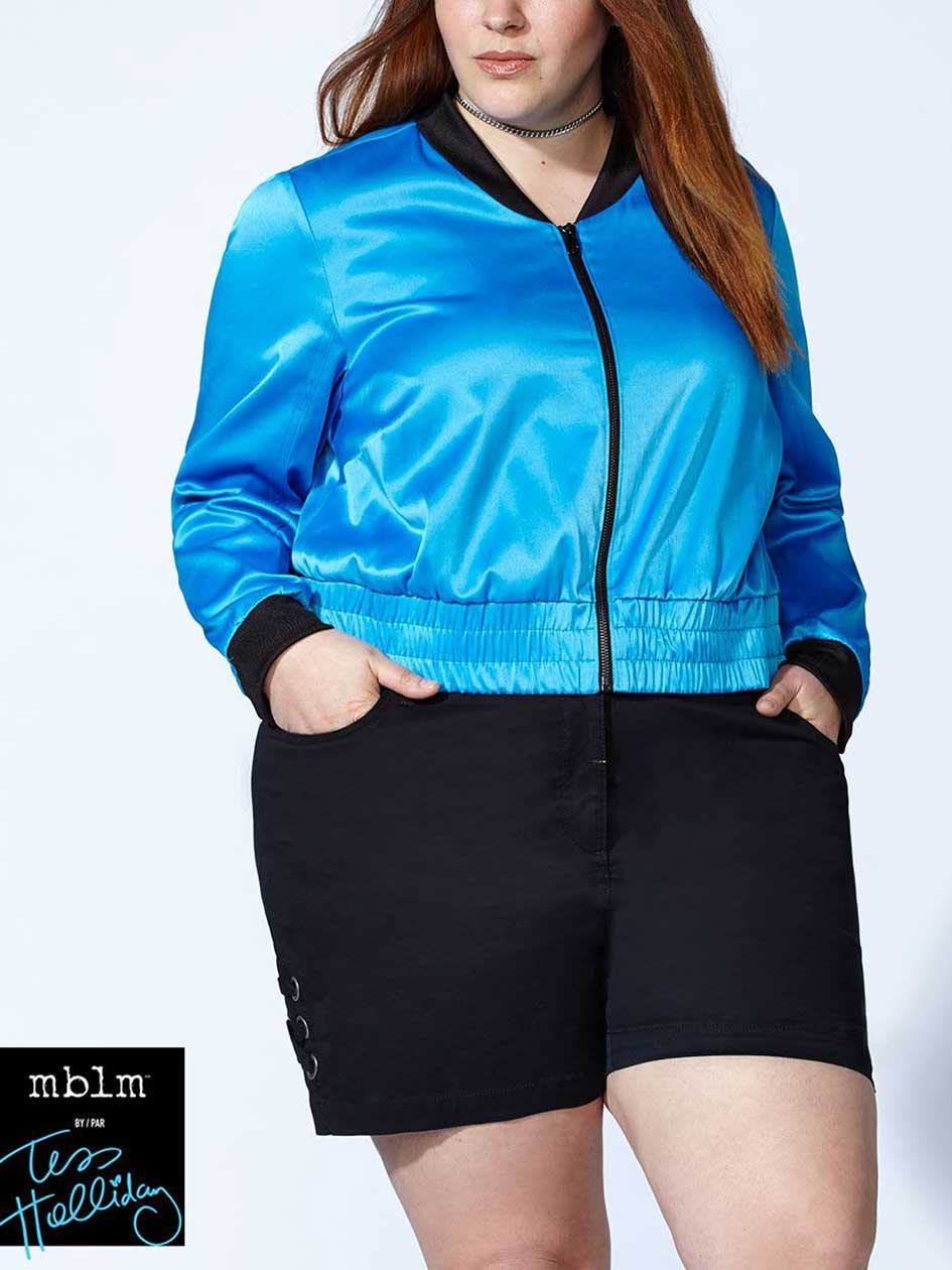 Tess Holliday - Blouson aviateur