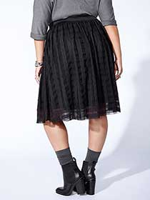 mblm - Plaid Lace Skirt
