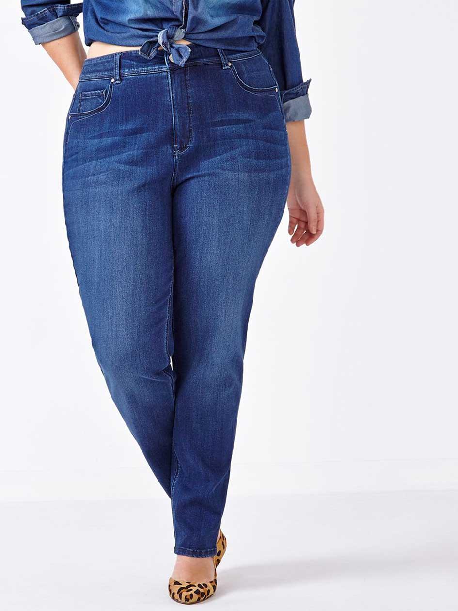 d/c JEANS Curvy Fit Straight Leg Jean