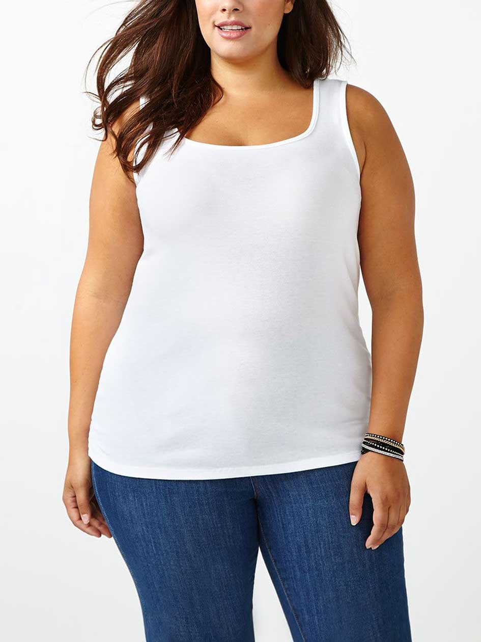 Camisole basique, coupe silhouette