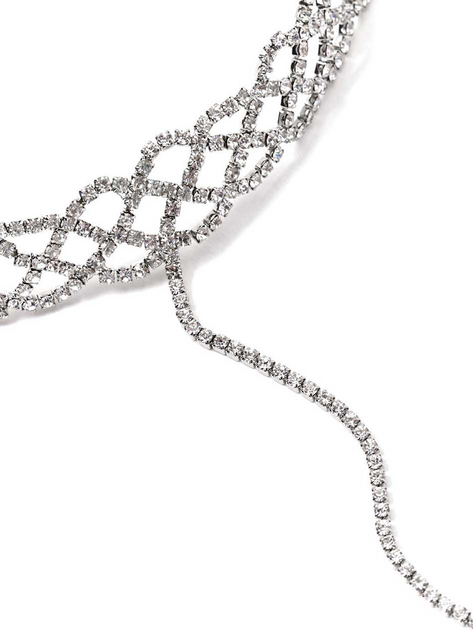 Chain Choker with Crystals