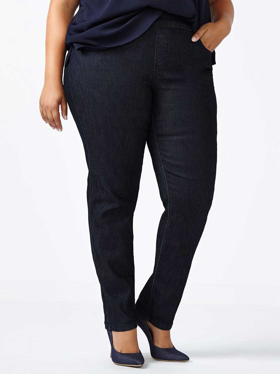 ONLINE ONLY - d/c JEANS Petite Savvy Straight Leg Jean