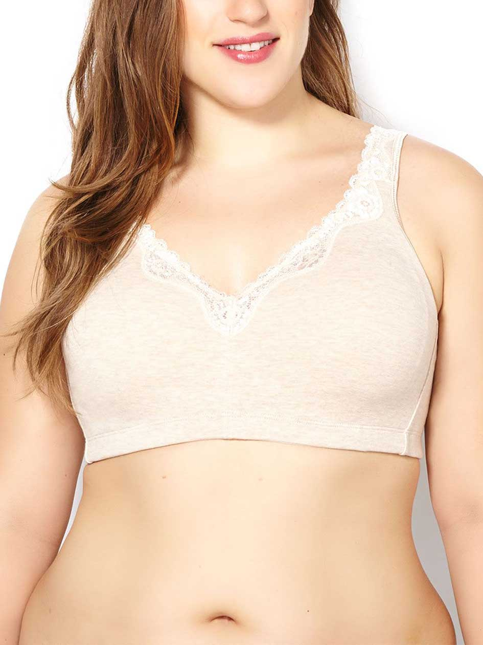 Ti Voglio Wirefree Cotton Bra with Lace, G & H