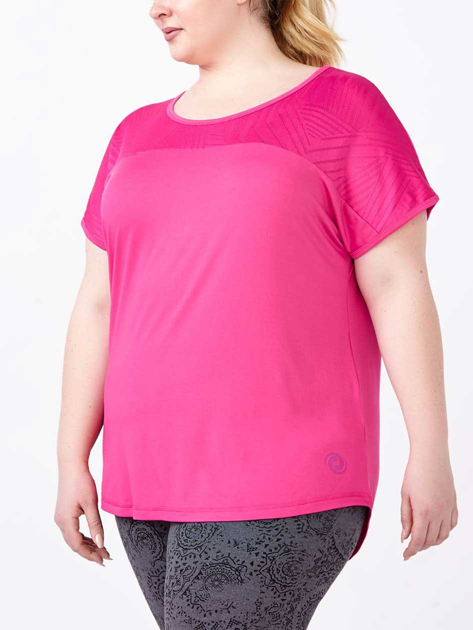 Essentials - Plus-Size T-Shirt with Mesh