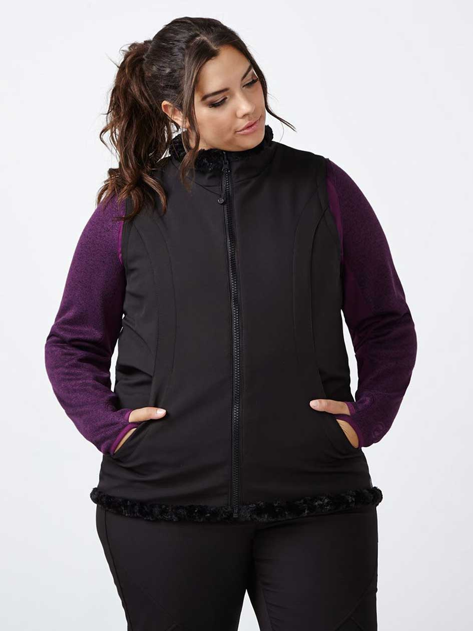 Sports - Reversible Vest with Faux-Fur