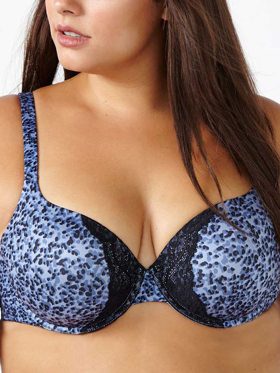 Ti Voglio Printed Padded Demi T-Shirt Bra with Lace