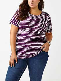 Curve Fit Printed Cotton T-Shirt