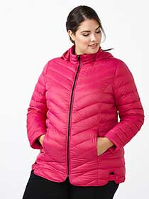 ActiveZone Plus-Size Packable Down Jacket