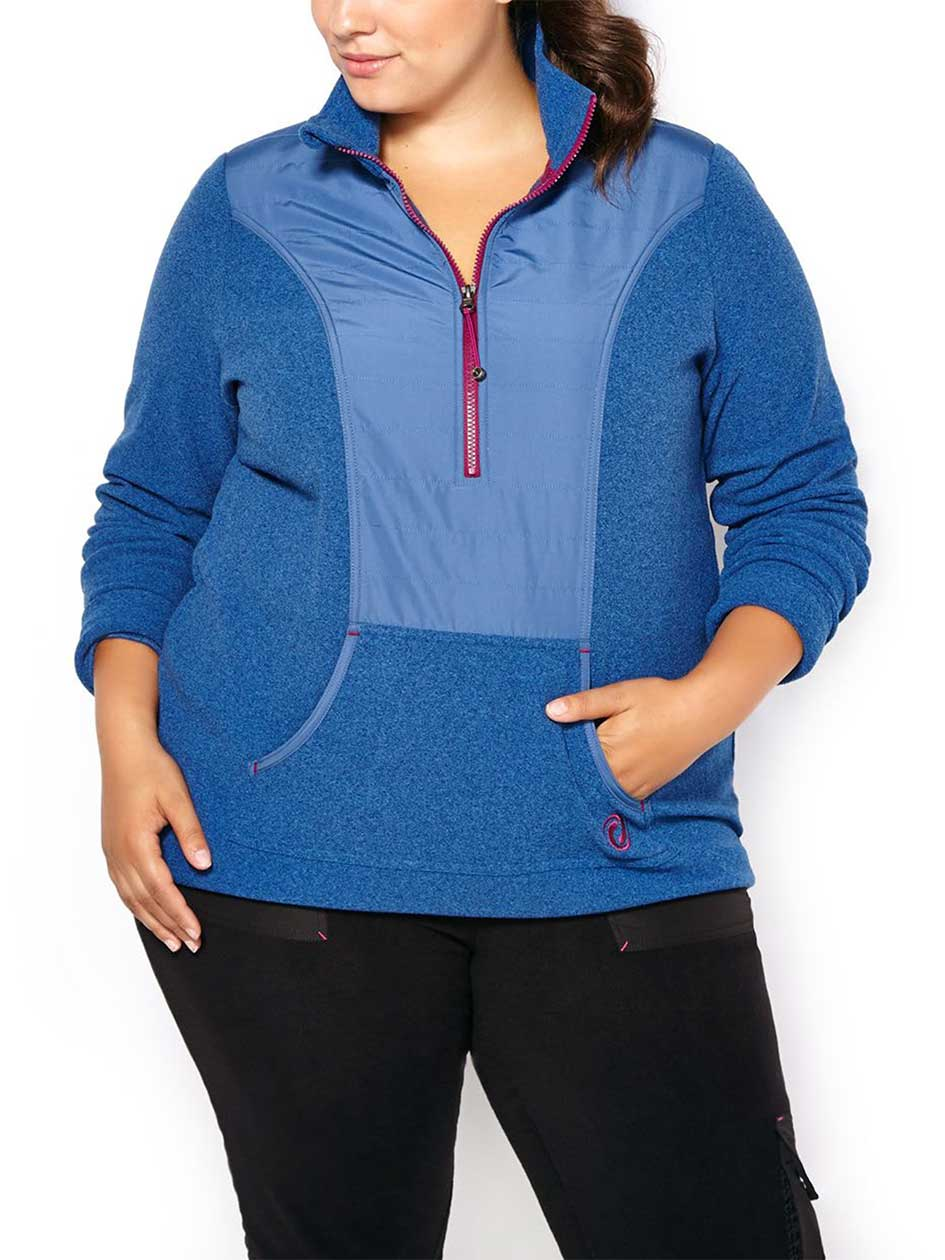 Sports - Plus-Size Popover Fleece Jacket