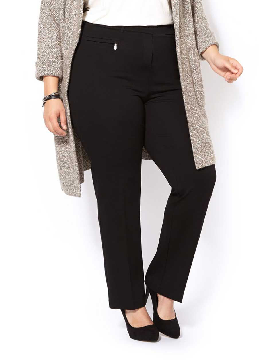 ONLINE ONLY Tall - Savvy Ponte de Roma Straight Leg Pant