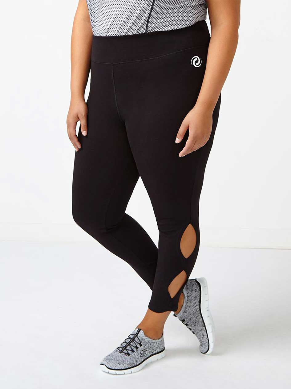 Athleisure - Plus-Size 7/8 Legging with Cut-Outs