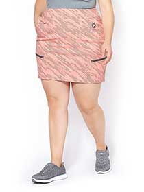 Sports - Printed Plus-Size Golf Skort