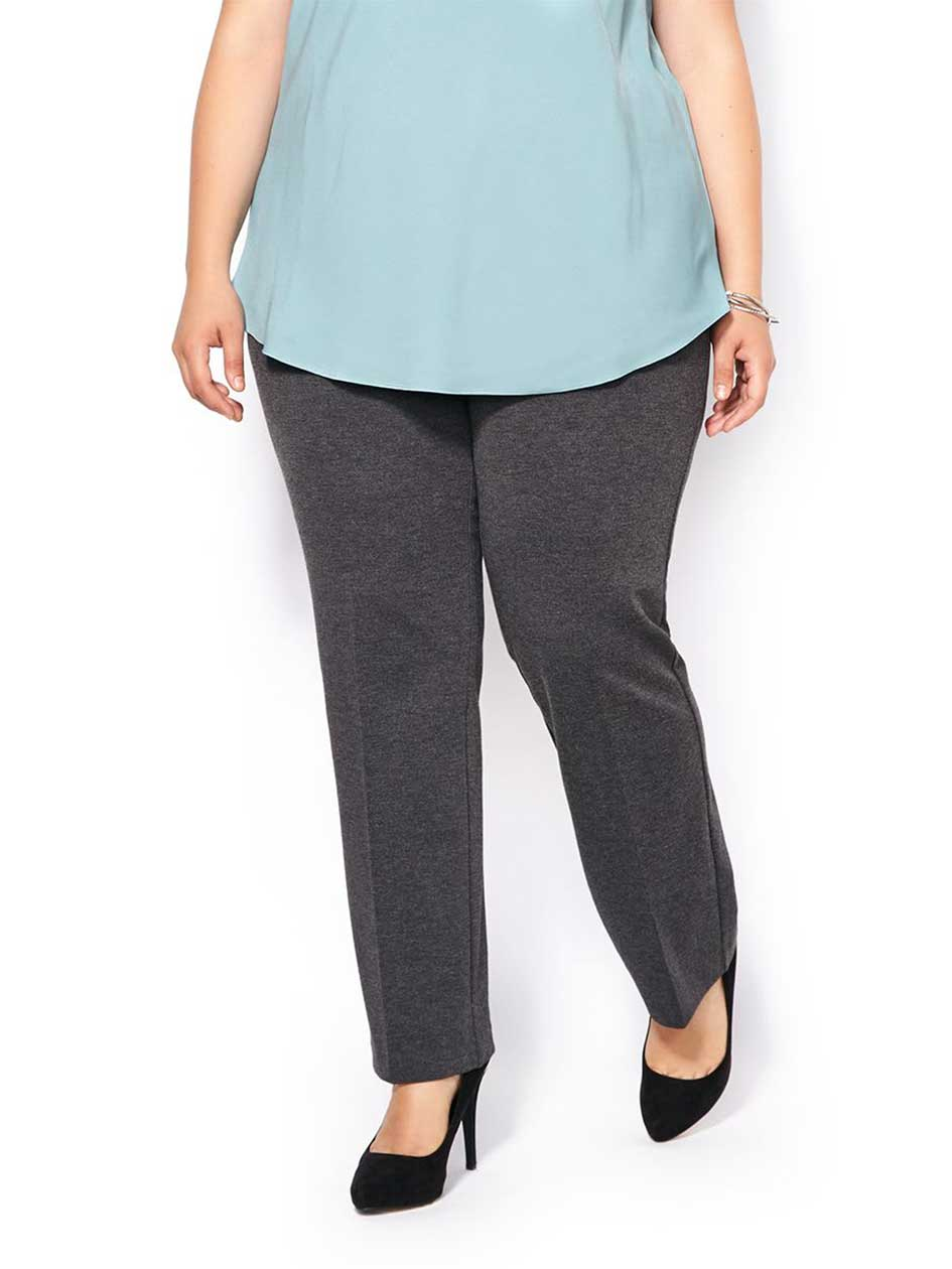 ONLINE ONLY - Tall Savvy Fit Ponte de Roma Straight Leg Pant