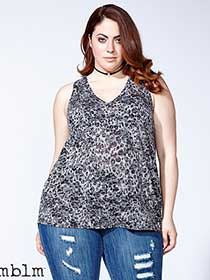 mblm - Sleeveless Printed Top