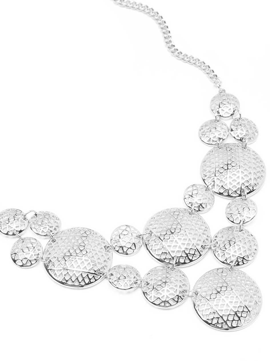 Metallic Circles Necklace