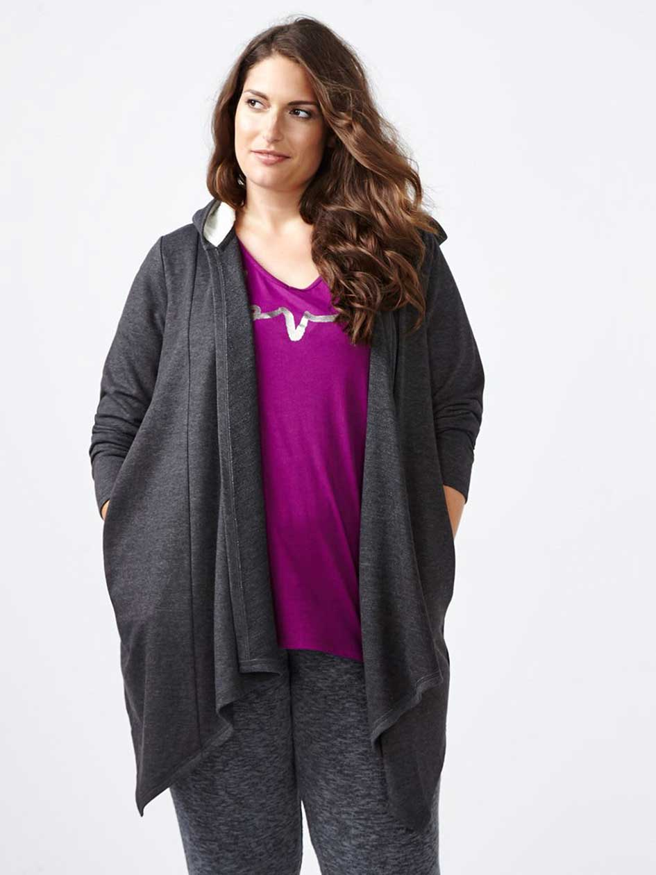 Ti Voglio French Terry Hooded PJ Cardigan
