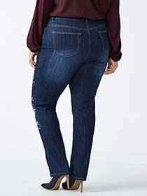 d/c JEANS Straight Fit Straight Leg Jean with Paint