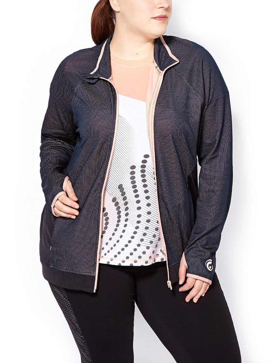 Essentials - Plus-Size Textured Jacket