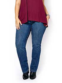 d/c JEANS Straight Fit Straight Leg Jean with Beads