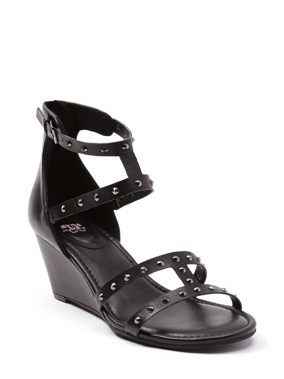 Wide-Width Wedge Sandals with Studs