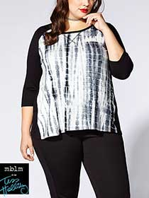 Tess Holliday - Print Front 3/4 Sleeve Top