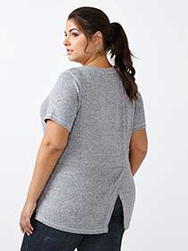 Athleisure - Plus-Size High Low Top
