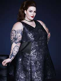 Tess Holliday - Sleeveless Fit and Flare Printed Dress
