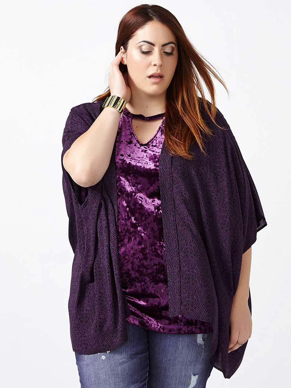 d/c JEANS - Printed Kimono