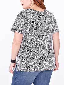 Shaped Fit Printed Cotton T-Shirt