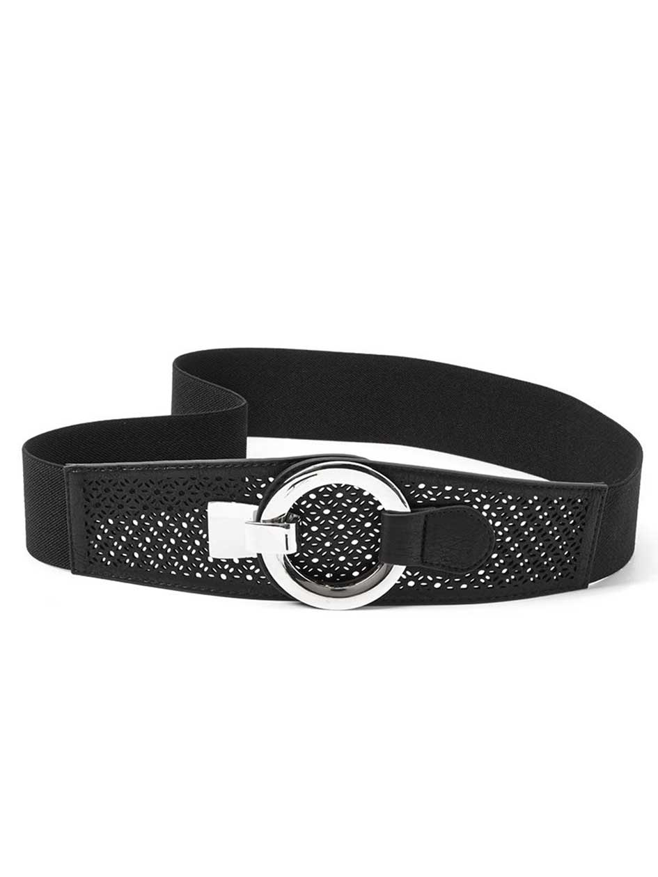 Elastic Belt with Cut Out Detailing