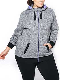 Athleisure - Plus-Size Fleece Zip Up Hoodie