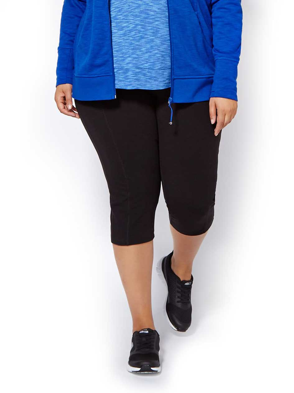 Essentials - Plus-Size Basic Capri Legging